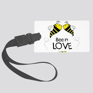 Bee in love Large Luggage Tag