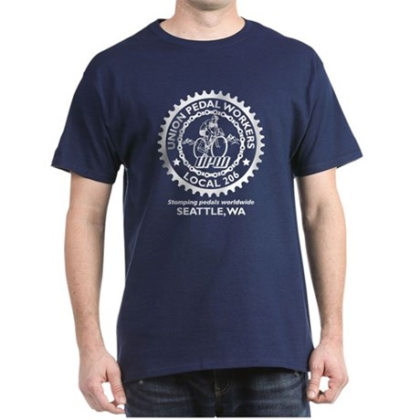 Local 206 seattle front print dark t shirt local 206 for Seattle t shirt printing