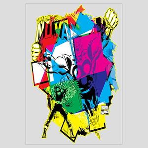 Color Burst Nova Wall Art
