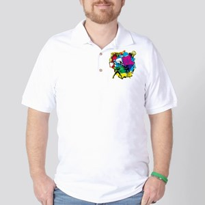 Color Burst Nova Golf Shirt