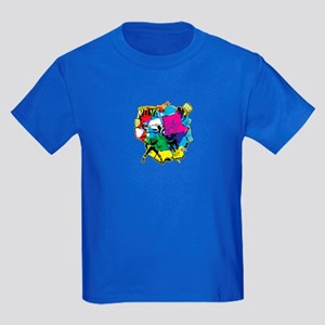 Color Burst Nova Kids Dark T-Shirt