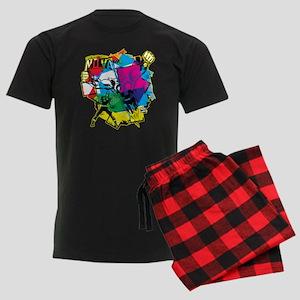 Color Burst Nova Men's Dark Pajamas