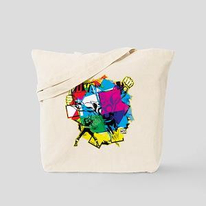 Color Burst Nova Tote Bag