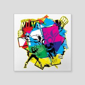 "Color Burst Nova Square Sticker 3"" x 3"""