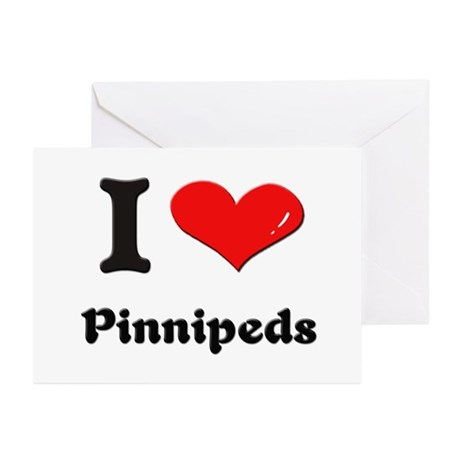I love pinnipeds Greeting Cards (Pk of 10)
