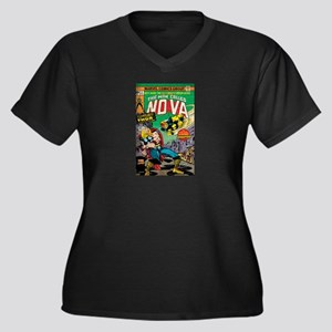 Comic Book C Women's Plus Size V-Neck Dark T-Shirt