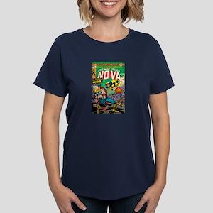 Comic Book Cover Nova 2 Women's Dark T-Shirt