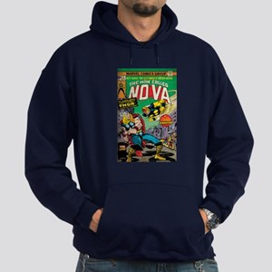 Comic Book Cover Nova 2 Hoodie (dark)