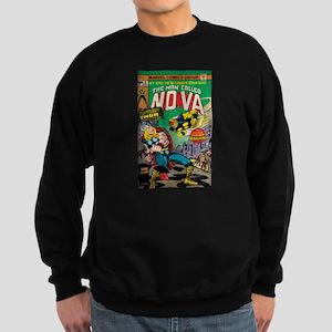 Comic Book Cover Nova 2 Sweatshirt (dark)