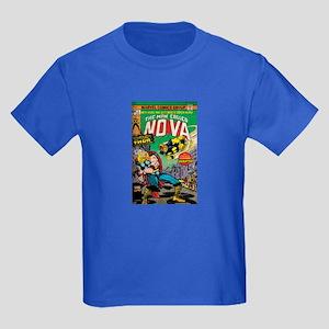 Comic Book Cover Nova 2 Kids Dark T-Shirt