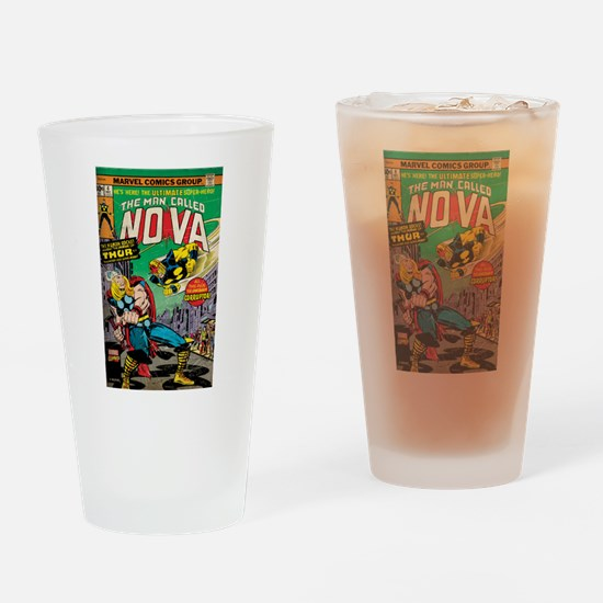 Comic Book Cover Nova 2 Drinking Glass