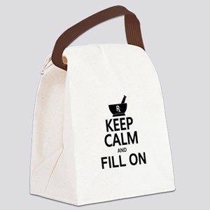 Keep Calm Fill On Canvas Lunch Bag