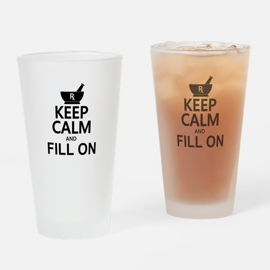Keep Calm Fill On Drinking Glass