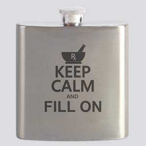 Keep Calm Fill On Flask