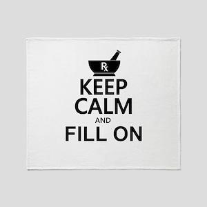 Keep Calm Fill On Throw Blanket