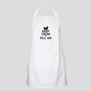 Keep Calm Fill On Apron