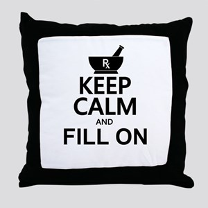 Keep Calm Fill On Throw Pillow