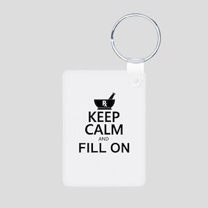 Keep Calm Fill On Aluminum Photo Keychain