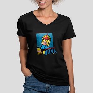 Nova Women's V-Neck Dark T-Shirt