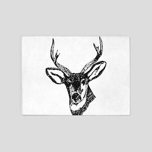 Deer 5'x7'Area Rug