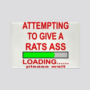 Attempting To Give A Rats Ass Rectangle Magnet