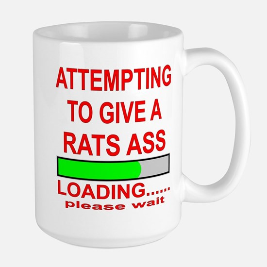 Attempting To Give A Rats Ass Large Mug