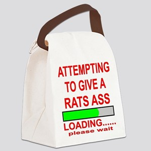 Attempting To Give A Rats Ass Canvas Lunch Bag