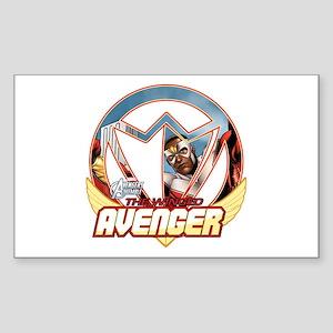 The Winged Avenger Sticker (Rectangle)