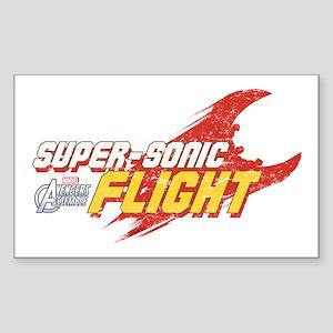 Super Sonic Flight Sticker (Rectangle)