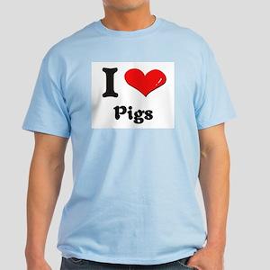 I love pigs Light T-Shirt