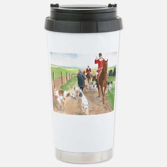 foxhunt card Stainless Steel Travel Mug
