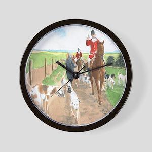 Foxhunt 3 Wall Clock