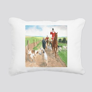 Foxhunt 3 Rectangular Canvas Pillow