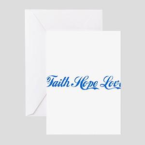 Faith Hope & Love Greeting Cards (Pk of 10)
