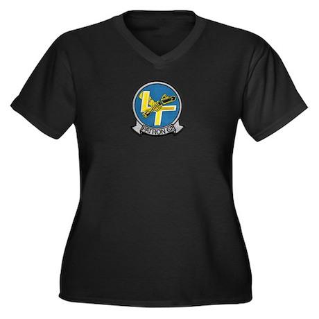 VP-62 Women's Plus Size V-Neck Dark T-Shirt