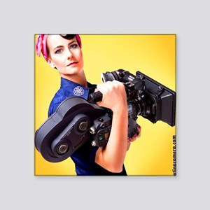 "Jendra the Camerawoman Square Sticker 3"" x 3"""
