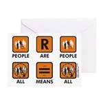 People Are People Greeting Cards (Pk of 10)