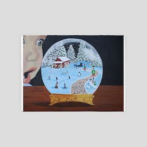 Snow Globe 5'x7'Area Rug