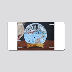 Snow Globe Aluminum License Plate