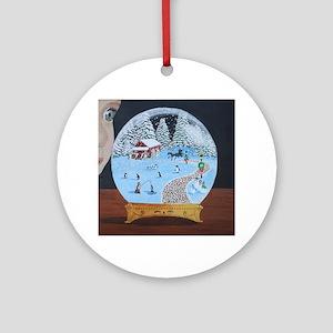 Snow Globe Ornament (Round)