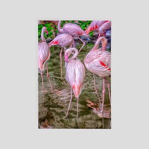 Pink Flamingos 4' x 6' Rug