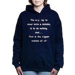 Make a Mistake Women's Hooded Sweatshirt