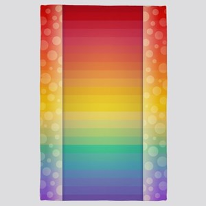 Colorful Rainbow Background 4' x 6' Rug