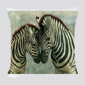 Zebras Woven Throw Pillow