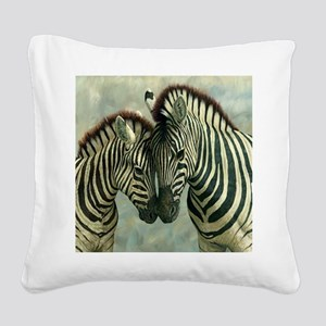 Zebras Square Canvas Pillow