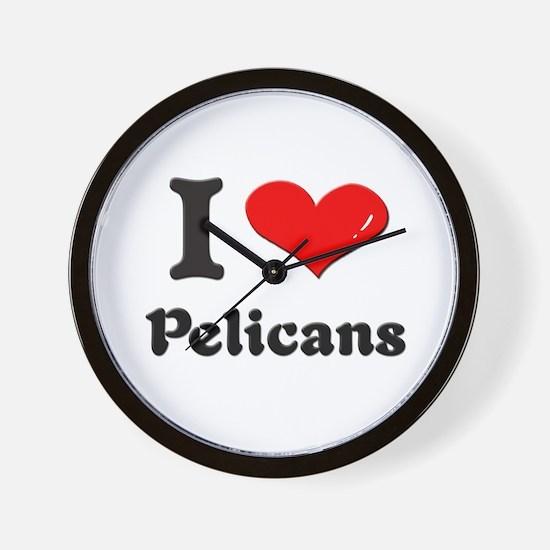 I love pelicans  Wall Clock