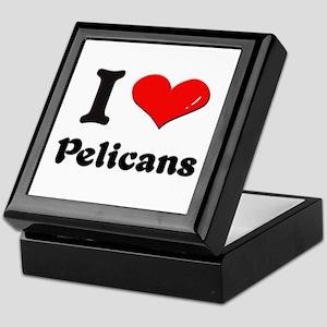 I love pelicans Keepsake Box