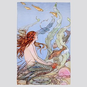 Warwick Goble Mermaid! Kids 4' x 6' Rug