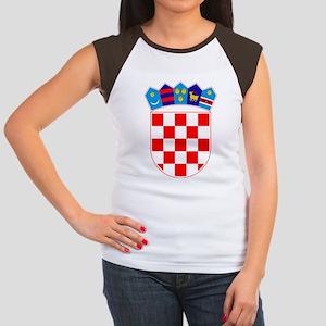 Croatia Coat of Arms Women's Cap Sleeve T-Shirt