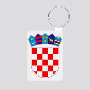 Croatia Coat of Arms Aluminum Photo Keychain